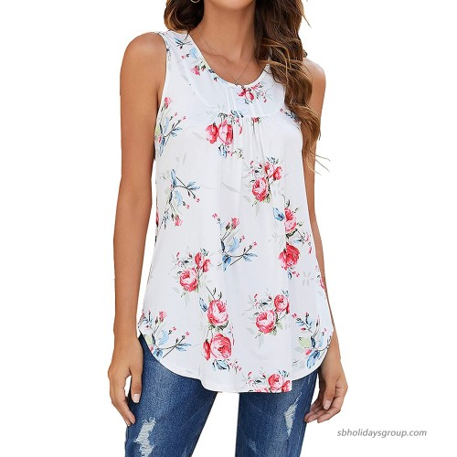 Halife Women's Paisley Printed Pleated Sleeveless Blouse Shirt Casual Flare Tunic Tank Top at  Women's Clothing store