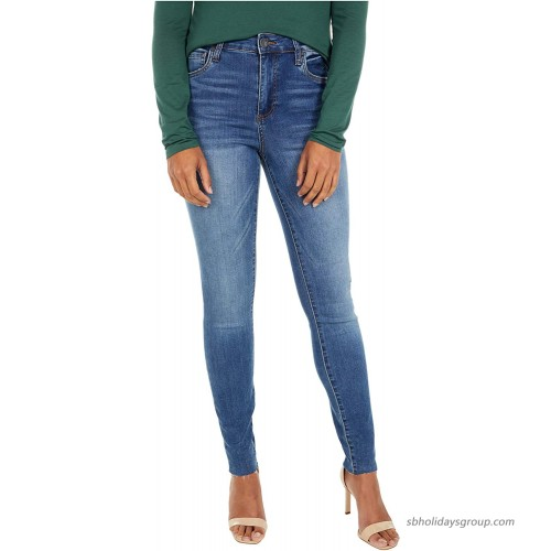 KUT from the Kloth Mia High-Rise Ankle Skinny with Raw Hem in Demonstrate Demonstrate Wash 00 at  Women's Jeans store