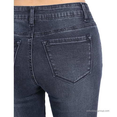 MBE Women's Casual Stretchy Skinny Jeans Designed in U.S.A. at Women's Jeans store
