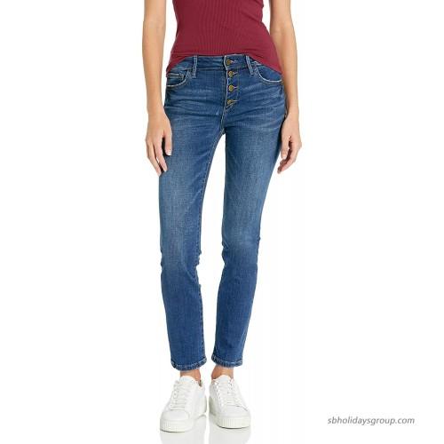 Sam Edelman Women's Kitten Mid Rise Straight Jean Beatrice 24 at  Women's Jeans store