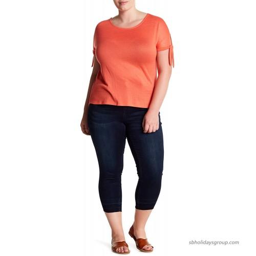 Seven7 Released Hem Skinny Crop Jeans Jarrell 14W at  Women's Jeans store