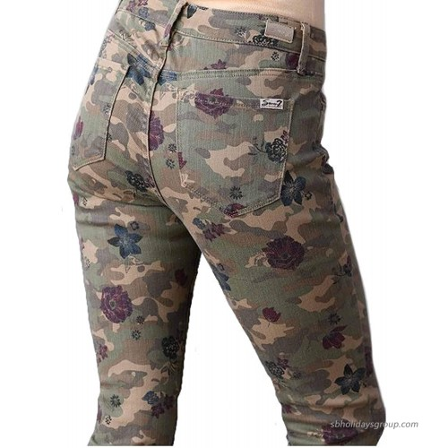 Seven7 Women's High Rise Slim Straight in Camo at Women's Jeans store