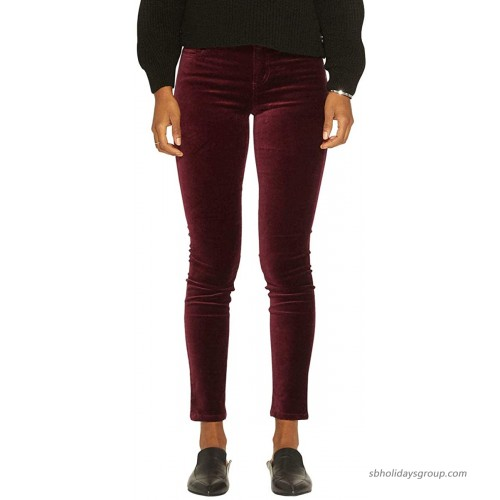 Silver Jeans Co. Women's Aiko Mid Rise Stretch Velvet Skinnies