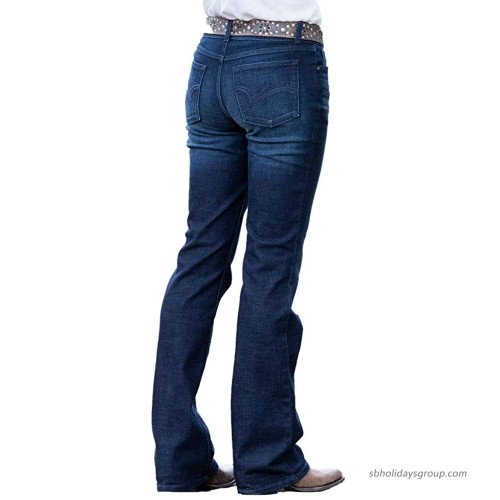 Wrangler Apparel Womens Ladies Mid Rise Dark Wash Mae Jeans 9-30. Blue at  Women's Jeans store