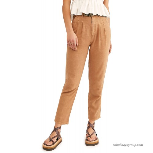 Free People Faded Love Straight Leg Ankle Pants Sandstorm 24 at  Women's Clothing store