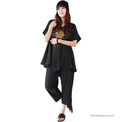 Jiqiuguer Boho Pants Striped Linen Pants Women's Cotton Capri Pants with Pockets at  Women's Clothing store