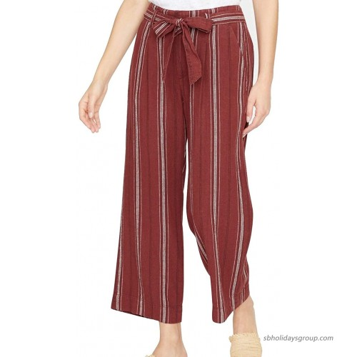 Sanctuary Inland Sashed Crop Linen Pants at  Women's Clothing store
