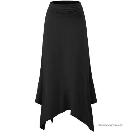 Doublju Womens Light Handkerchief Waist Long Skirt at  Women's Clothing store