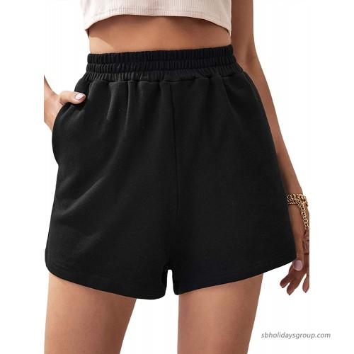 Milumia Women Athletic Elastic High Waist Shorts Joggers Running Workout Track Shorts at  Women's Clothing store