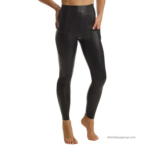 commando Faux Leather Pocket Leggings SLG64 at  Women's Clothing store