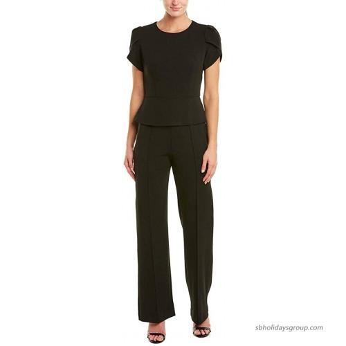 Donna Morgan Women's Peplum Wide Leg Jumpsuit