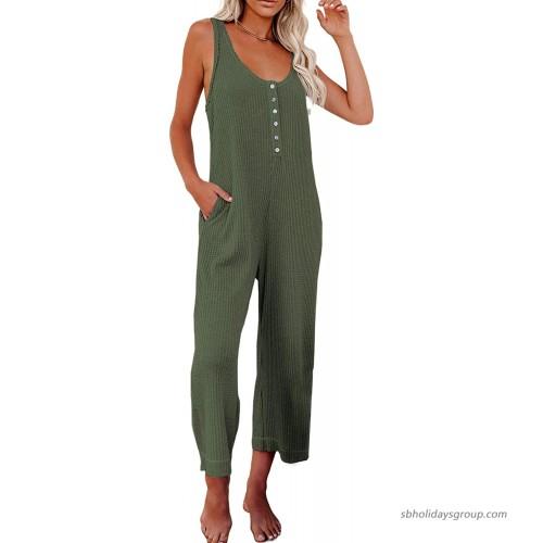 Eytino Women Tie Dye Print Harem Jumpsuit Summer V Neck Romper One Piece Jumpsuit Playsuit S-XL