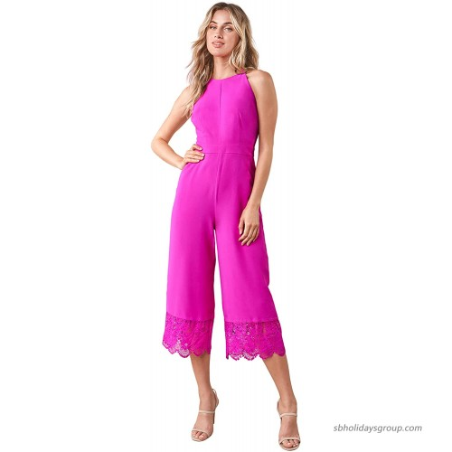 Sugar Lips Women's Forever Yours Lace Trim Jumpsuit