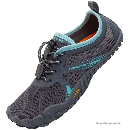 STEELEMENT. Womes Barefoot Sports Running Sneakers Minimalist Shoes Zero Drop Outdoor Swim Water Shoes 6 US 98-grey-38 Trail Running