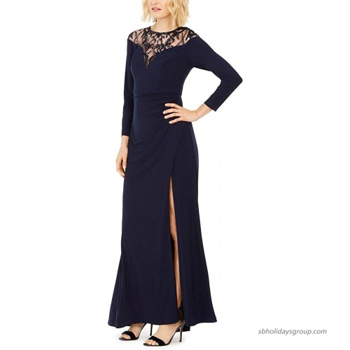 Adrianna Papell Women's Jersey Gown with Sequin Yoke