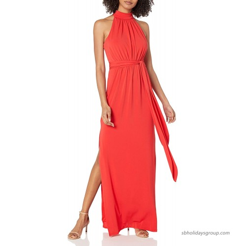 HALSTON Women's Mock Neck Jersey Gown at  Women's Clothing store