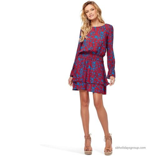 Jessica Simpson Women's Ara Smock Waist Long Sleeve Dress at  Women's Clothing store