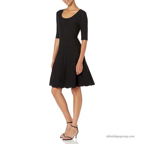 Lark & Ro Women's Matisse Half Sleeve Flared Dress