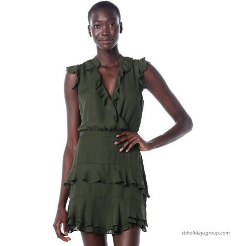 Parker Women's Tangia Flutter Sleeve Short Dress at Women's Clothing store