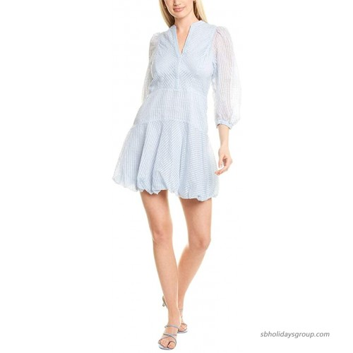 Rebecca Taylor Women's Long Sleeve Organdy Stripe Dress at  Women's Clothing store