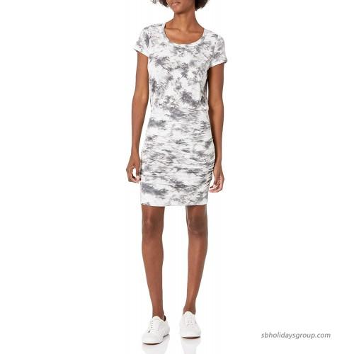 Skinnygirl Women's Kim Short Sleeve Rushed Mini Dress