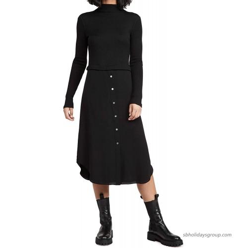 Theory Women's Long Sleeve Combo Dress at  Women's Clothing store