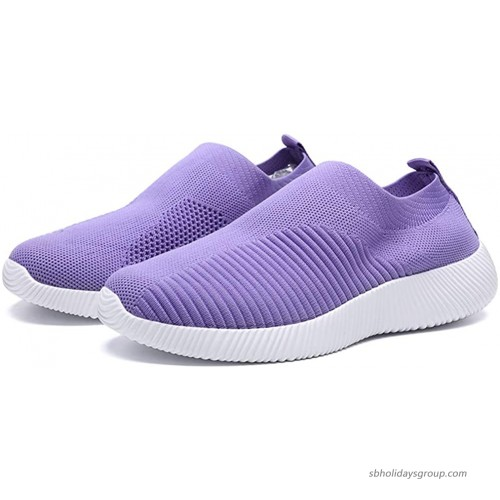 CHICLOVEY Women's Mesh Lightweight Sock Sneakers Slip on Athletic Running Leisure Walking Shoes Walking