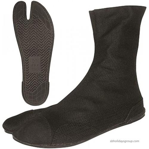 Marugo Kurashikiya Japanese Tabi Shoes Full Black Edition 27 cm