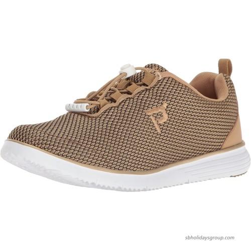 Propet Women's TravelFit Prestige Walking Shoe Gold Black 11 4E US Walking