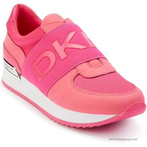 DKNY Women's Classic Jogger Lightweight Slip on Sneaker Fashion Sneakers