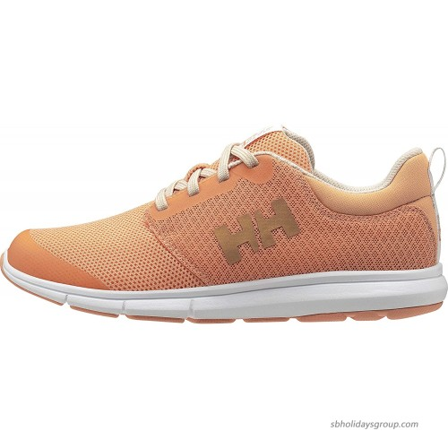 Helly-Hansen Womens Feathering Sailing Shoe 071 Melon White Shell 8 Fashion Sneakers