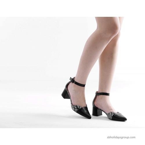 Greatonu D'Orsay Pump Block Heel Party Dress Shoes Pumps