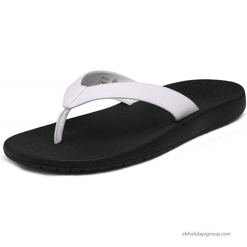 DREAM PAIRS Women's Arch Support Flip Flops Comfortable Summer Beach Thong Sandals Flip-Flops