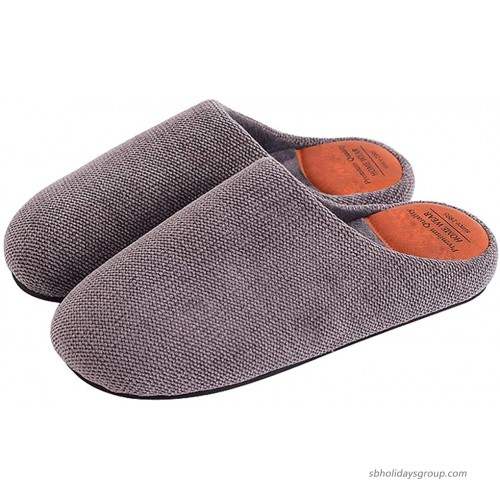 House Slippers for Women and Men Comfy Memory Foam Cotton Indoor Home Bedroom Couple Shoes Slip On Slides Slippers