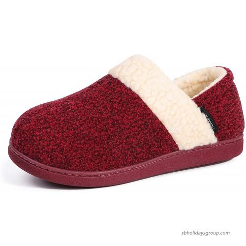 MERRIMAC Women's Hearth Fuzzy Memory Foam Closed Back Slipper Slippers