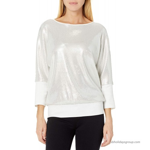 Skinnygirl Women's Spicy Embroidered Sequin Top