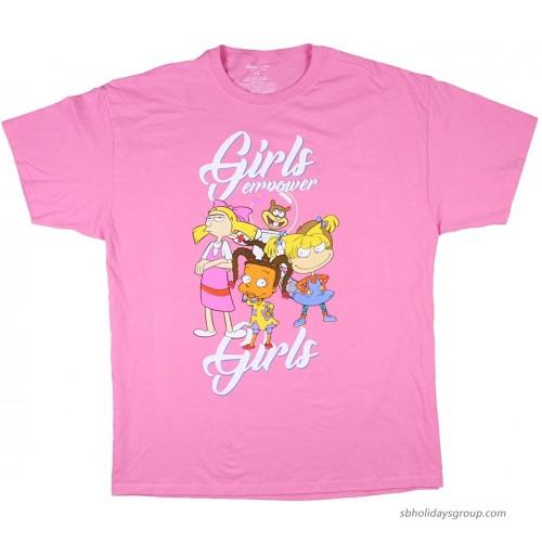 Nickelodeon Women's Girls Empower Girls Plus Size Boyfriend Style T-Shirt