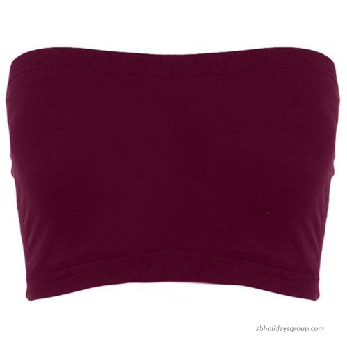 Sugar Lips Seamless Crop Tube Top-Cherry at  Women's Clothing store