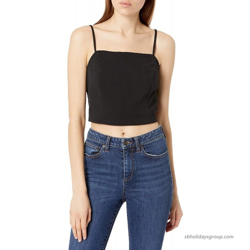 Sugar Lips Women's Stay Extra Square Neck Crop Top at Women's Clothing store