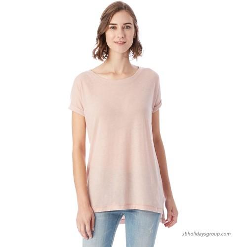 Alternative Women's Eco Gauze Drift Short Sleeve T-Shirt Rose Quartz ML at  Women's Clothing store