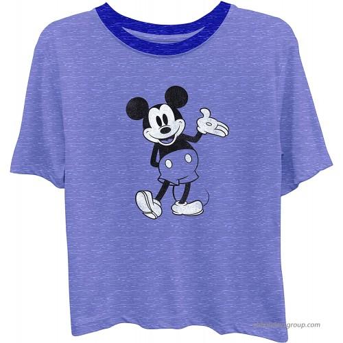 Disney Ladies Mickey Mouse Fashion Shirt - Ladies Classic Mickey Mouse Clothing Mickey Mouse Short Sleeve Tee