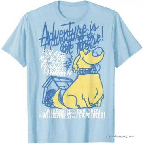 Disney Pixar Up Adventure Dug Line Art Graphic T-Shirt  