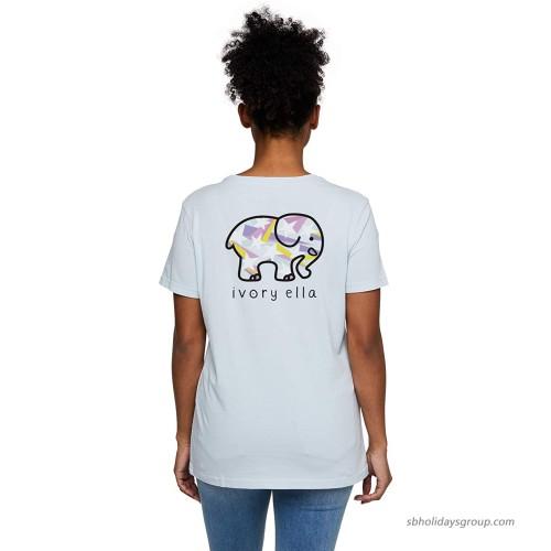 Ivory Ella Saba Heritage Stars Short Sleeve Relaxed T-Shirt at  Women's Clothing store