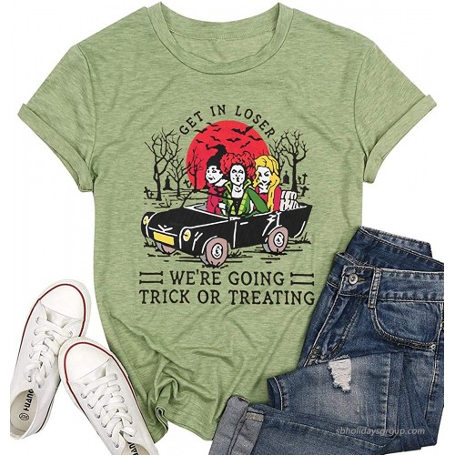 Squad Shirts Hocus Pocus Shirt Halloween Funny Graphic T-Shirt for Women Fall Casual Short Sleeve Tee Tops at  Women's Clothing store