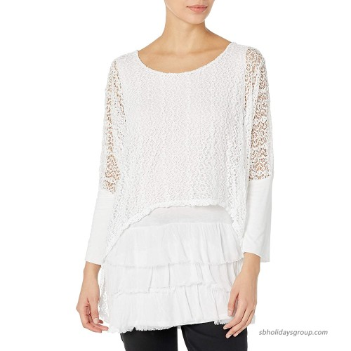 M Made in Italy Women's Long Sleeves Tunic with Sequins at  Women's Clothing store