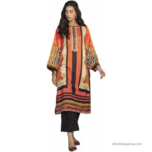 Pakistani Indian - Women Girls Kurti Digital printed cotton satin kurti at  Women's Clothing store