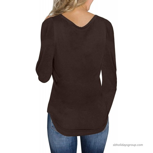 SocoToo Womens V Neck Henley Shirts Long Sleeve Button up Plain Tunic Tops Tees at Women's Clothing store