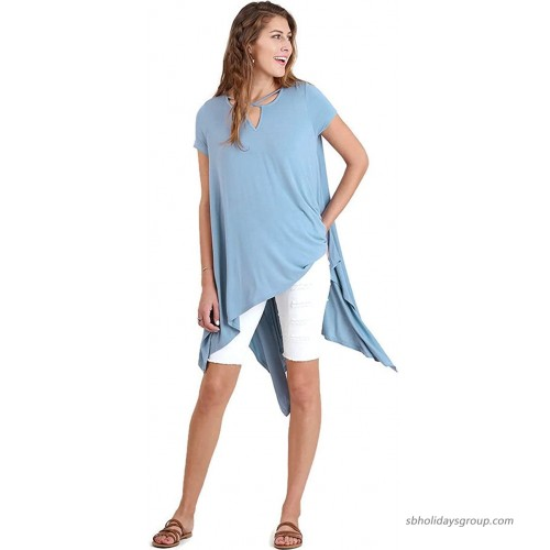 Umgee Women's Caged Asymmetrical Tunic Top at  Women's Clothing store